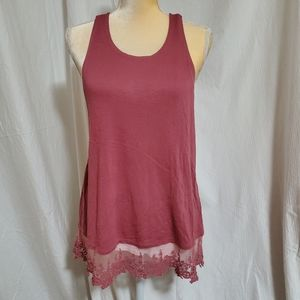 Kimchi Blue sleeveless top - size M -rust/clay/red